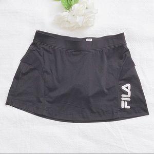 Fila black tennis sport skort skirt size M